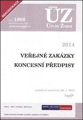 Obrázok ÚZ 1008 Veřejné zakázky Koncesní zákon