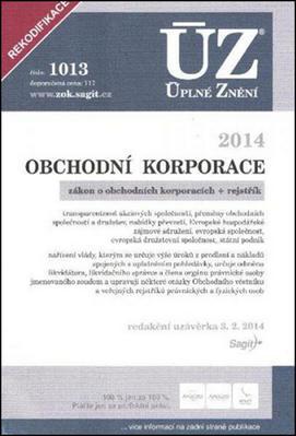 Obrázok ÚZ 1013 Obchodní korporace 2014