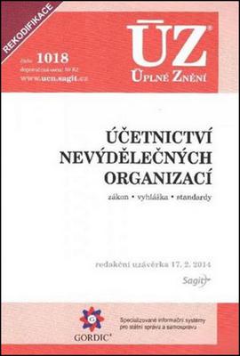 Obrázok ÚZ 1018 Účetnictví nevýdělečných organizací 2014
