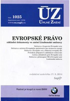Obrázok ÚZ 1025 Evropské právo