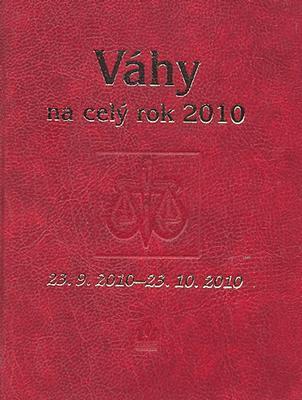 Váhy na celý rok 2010