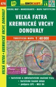 Obrázok Veľká Fatra, Kremnické vrchy, Donovaly 1:40 000
