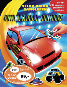 Obrázok Velká kniha samolepek Auta, letadla, motorky