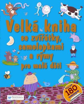 Obrázok Velká kniha se zvířátky, samolepkami a rýmy pro malé děti