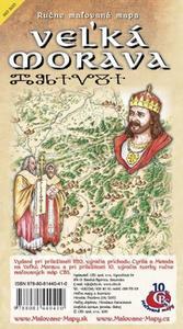 Obrázok Ručne maľovaná mapa Veľká Morava