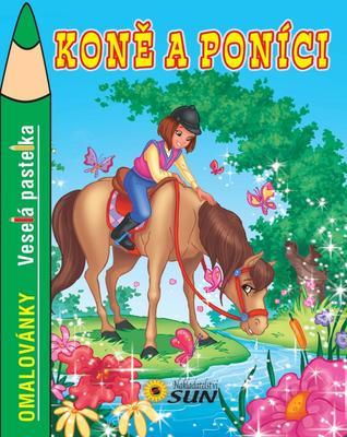 Obrázok Veselá pastelka Koně a poníci omalovánky