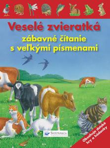 Obrázok Veselé zvieratká zábavné čítanie s veľkými písmenami