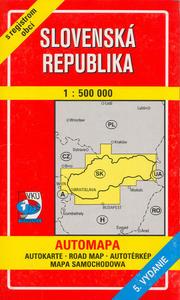 Obrázok VKÚ: Automapa SR 1:500 000 s registrom obcí