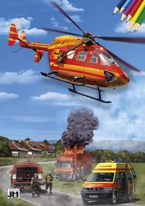 Obrázok Záchranáři - omalovánka