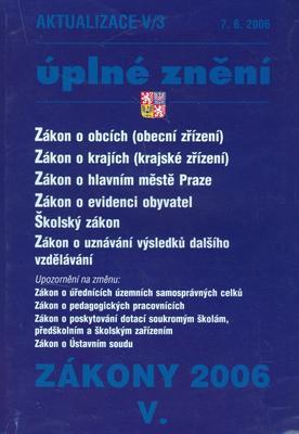 Obrázok Zákon o obcích 2006 V/3