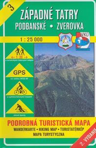 Obrázok Západné Tatry Podbanské Zverovka 1 : 25 000