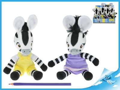 Obrázok Zebra ZOU plyšová postavička 23 cm 12 ks v Boxu