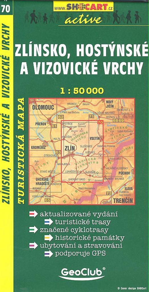 Zlínsko, Hostýnské a Vizovické vrchy 1:50 000