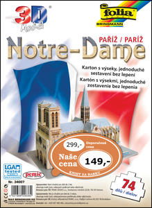 Obrázok 3D model Notre-Dame Paříž