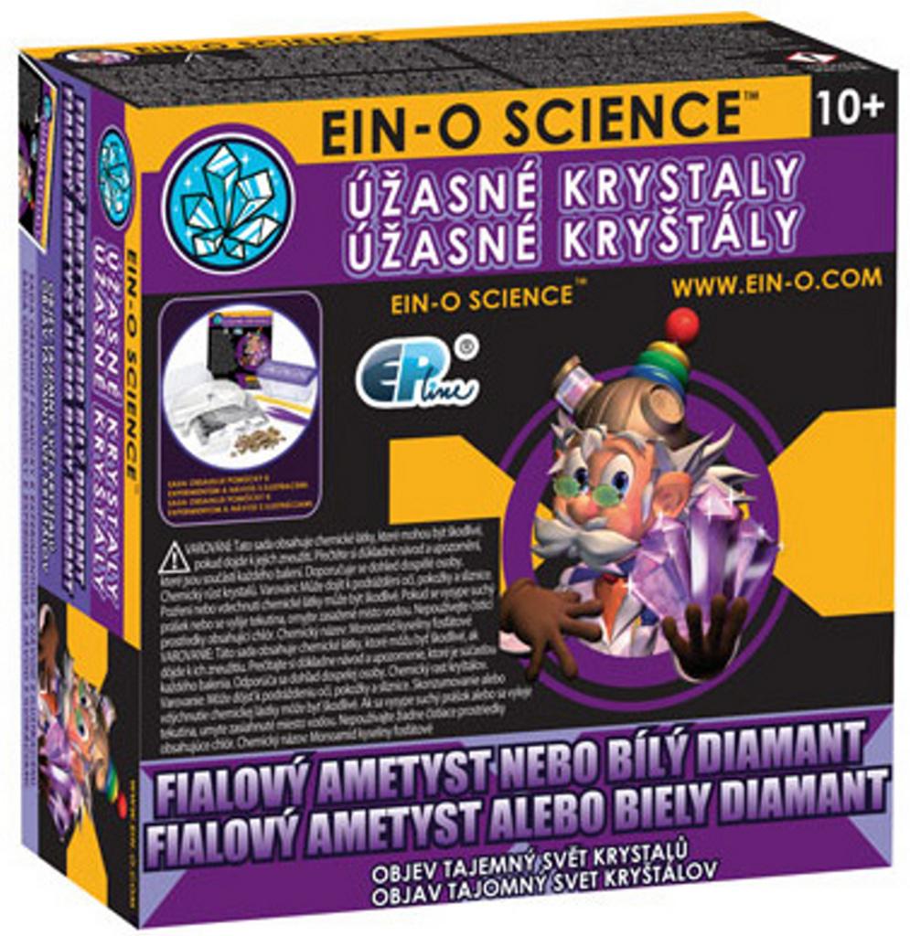 EIN-O Úžasné krystaly Fialový ametyst nebo bílý diamant