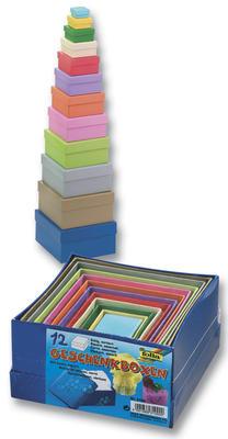 Obrázok Dárkové krabičky čtvercové 12 kusů