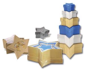 Obrázok Dárkové krabičky ve tvaru hvězdy 6 kusů