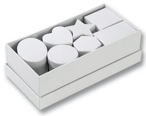 Obrázok Dárkové krabičky různých tvarů, 15 kusů, bílá