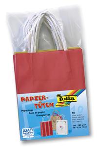 Obrázok Papírové tašky s papírovým uchem 12x15 cm 10 kusů