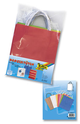 Obrázok Papírové tašky s papírovým uchem 18x21 cm 7 kusů