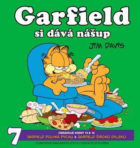 Obrázok Garfield si dává nášup
