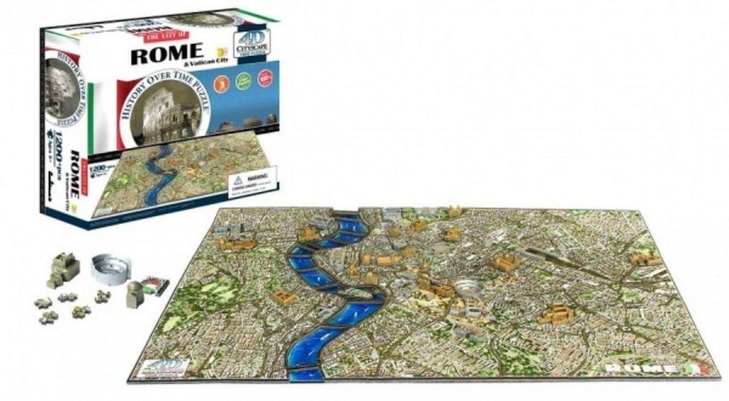 4D City Puzzle Řím a Vatikán