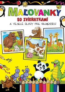 Obrázok Maľovanky so zvieratkami a veselé úlohy pre najmenších