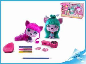 Obrázok VIP PETS Mazlíčci Yuko a Gigi s kadeřnickými doplňky