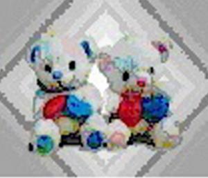 Obrázok Medvídek 2 srdce 23cm