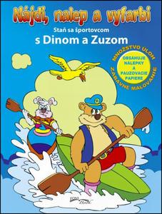 Obrázok Nájdi, nalep a vyfarbi Staň sa športovcom s Dinom a Zuzom