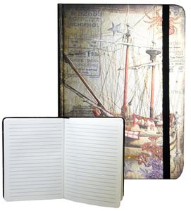 Obrázok Zápisník s gumičkou 178x126 mm plachetnice F