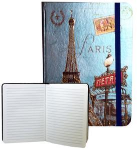 Obrázok Zápisník s gumičkou 178x126 mm Paříž s Eifelovkou F