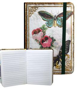 Obrázok Zápisník s gumičkou 95x140 mm motýli A