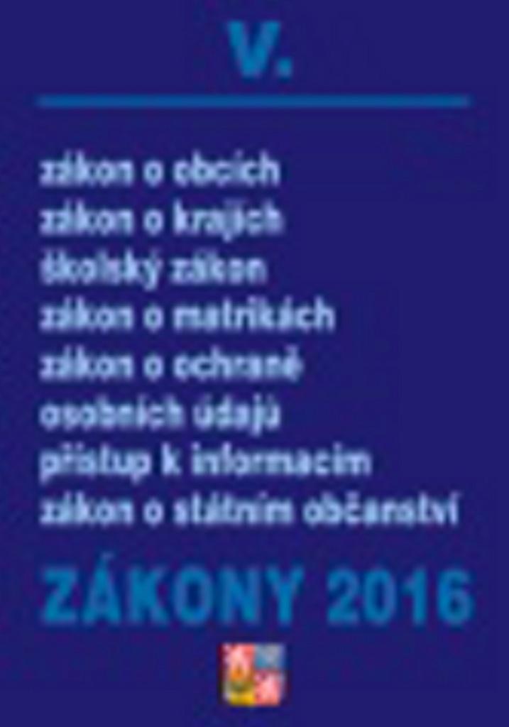 Zákony V/2016