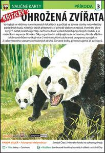 Obrázok Naučné karty Kriticky ohrožená zvířata
