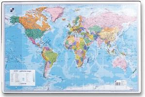 Obrázok Podložka na stůl 40x60cm, mapa světa