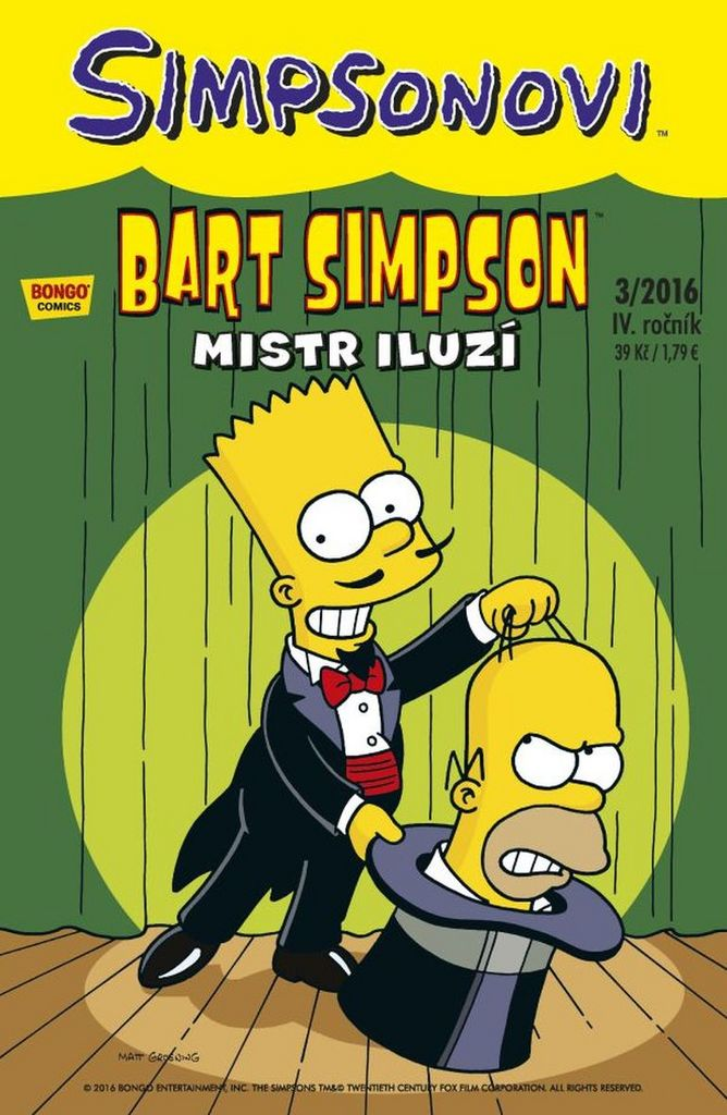 Bart Simpson Mistr iluzí