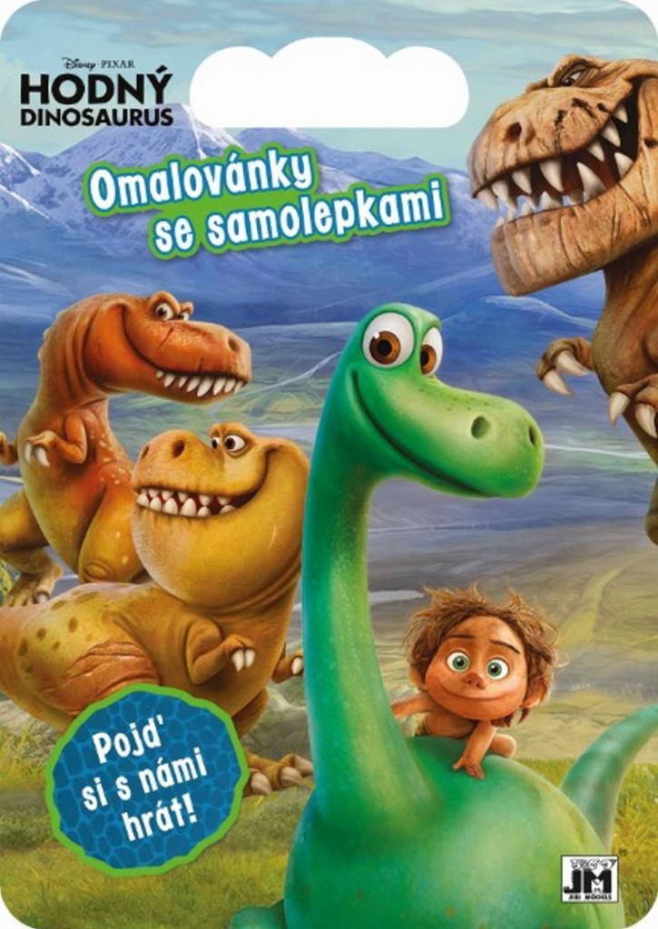 Hodný dinosaurus Omalovánky se samolepkami