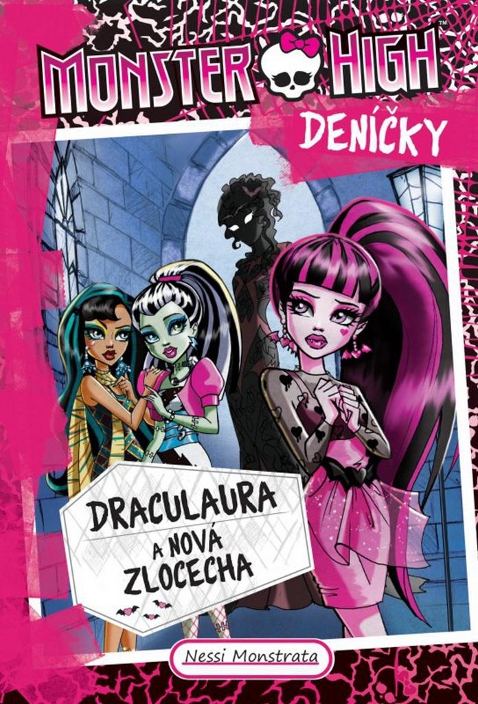 Monster High deníčky Draculaura a nová zlocecha - Nessi Monstrata
