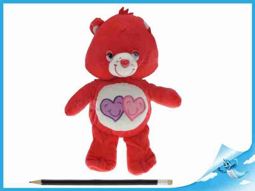 Starostlivý medvídek plyšový červený