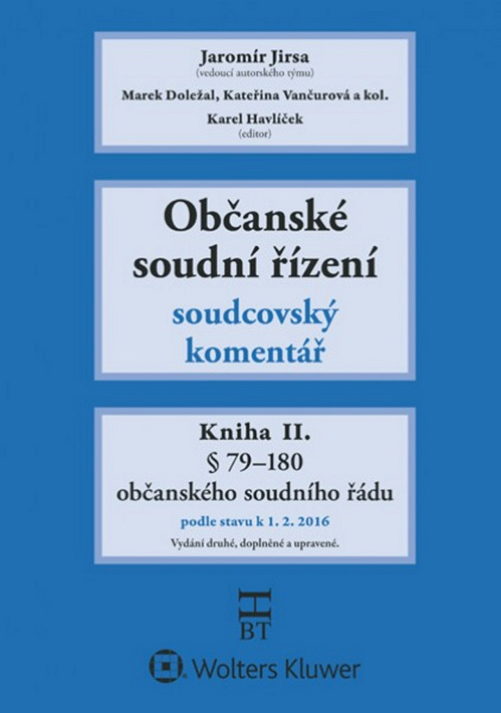 Občanské soudní řízení Kniha II. - Jaromír Jirsa