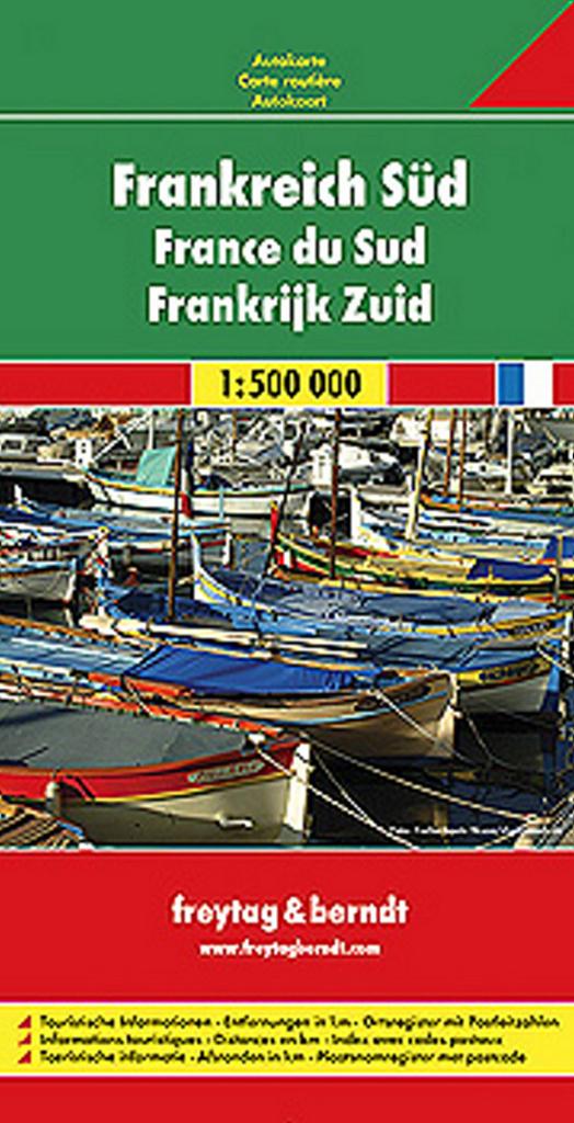 Automapa Francie jih 1:500 000