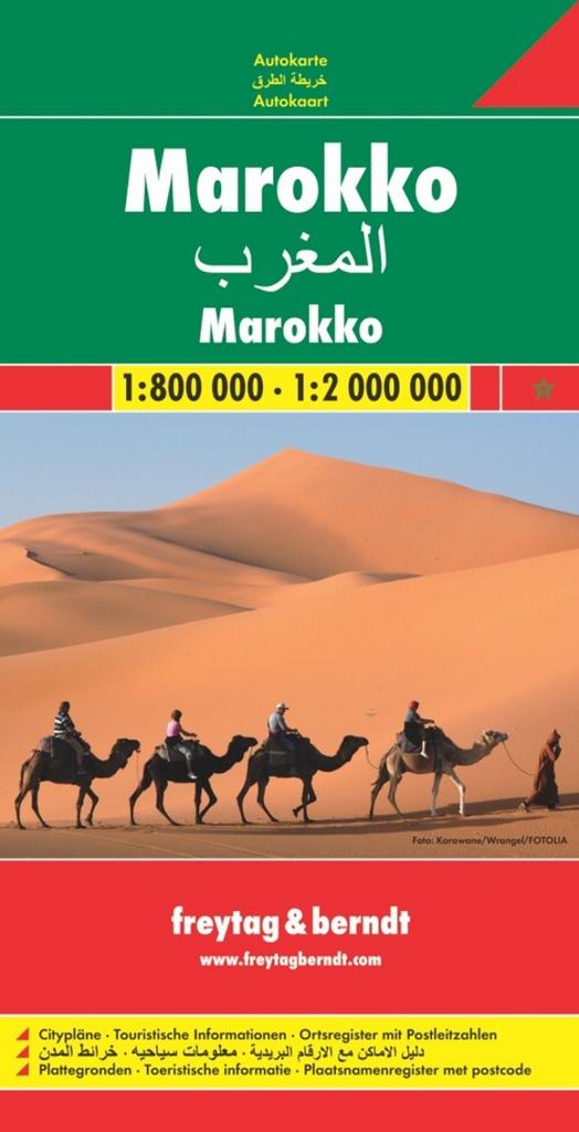 Automapa Maroko 1:800 000