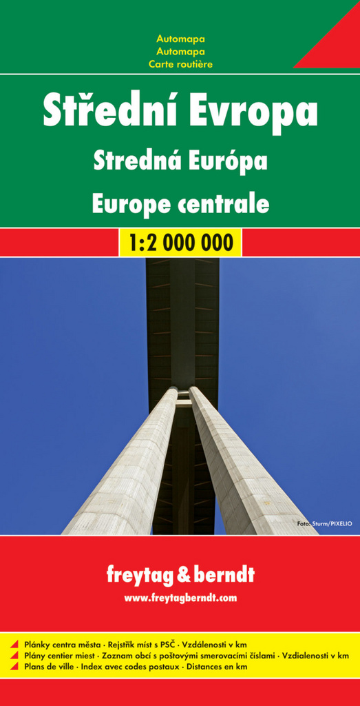 Automapa Střední Evropa 1: 2 000 000