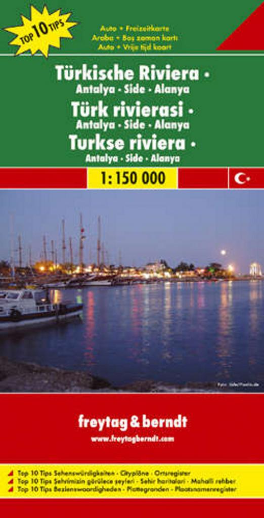 Automapa Turecká riviéra – Antalya, Side 1:150 000