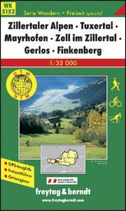 Obrázok 5152 Zillertaler Alpen Tuxertal 1:35 000