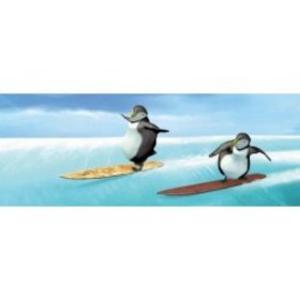 Obrázok Záložka Úžaska Tučňáčci na snowboardu