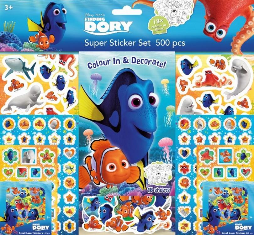 Super sticker set 500 kusů Hledá se Dory
