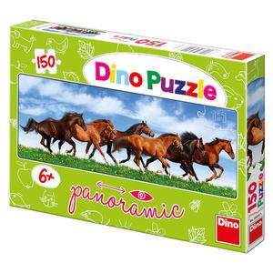 Obrázok Puzzle Úprk koní panoramic