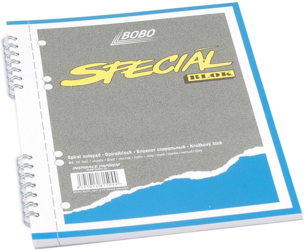 Speciál blok A5, čistý, 50 listů